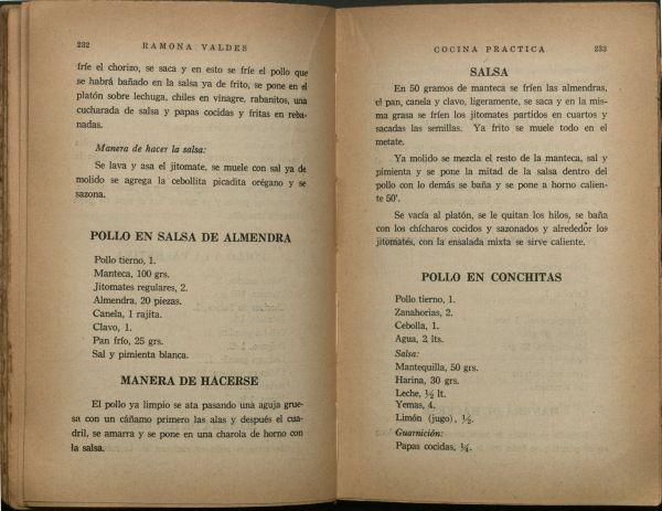 Cocina práctica, Pp. 232-233.