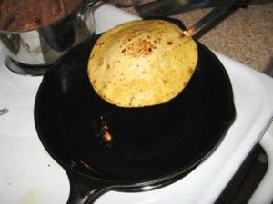 tortilla frying