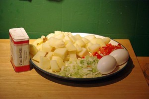 Ingredients for Spanish Eggs