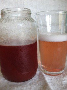 concentrated simple syrup & final mixture