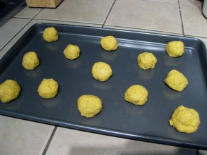 cornmeal cookie dough balls