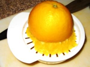 squeezing oranges