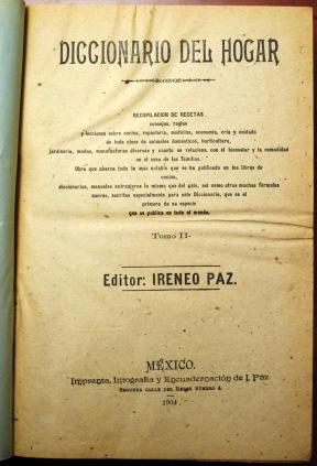 Diccionario del Hogar Title Page Vol. 2