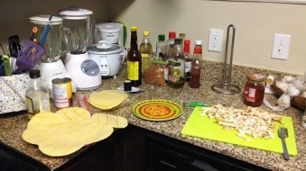Sunset Mexican Cookbook - ingredients for flautas