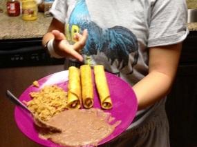 Sunset Mexican Cookbook - Flautas