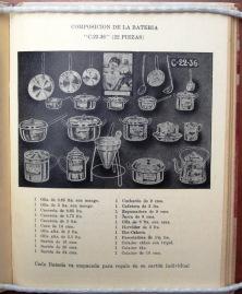 22 piece set of aluminum cookware. La Cocina de la Vasconia [194?]