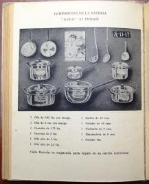 11 piece set of aluminum cookware. La Cocina de la Vasconia [194?]