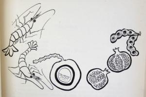 Detail of Colima chapter illustration. Las Senadoras Suelen Guisar, ([Mexico City?], México: Instituto Nacional de Protección a la Infancia, 1964), 33.