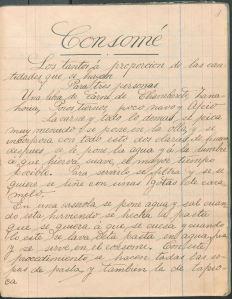 Recetas de Cocina por mi Profesor Sr. H. Winder (1904) by Paulina Morante. UTSA Libraries Special Collections.