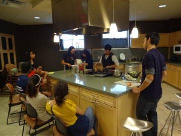 Photo of students at cooking demonstration