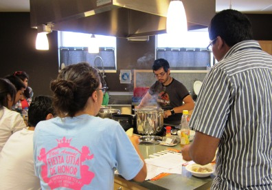Students at Cooking Demo. April 2013