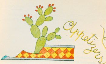 """""""NOPAL"""" (Prickly Pear). A species of cactus covered with clusters of spines and producing an edible fruit red, yellow, or green. It is very abundant in Mexico and very decorative. The Royal Eagle heroical symbol of a race came from the skies to rest its paws on the Nopal being forever the emblem of the Mexican country….9"""