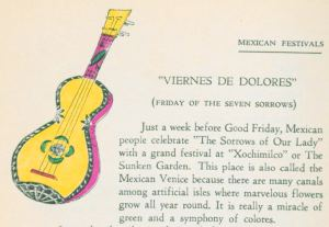 Illustration from Mexico Through My Kitchen Window (1938) by Maria A. de Carbia. UTSA Libraries Special Collections