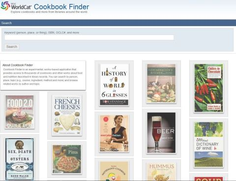 Cookbook Finder from OCLC Research