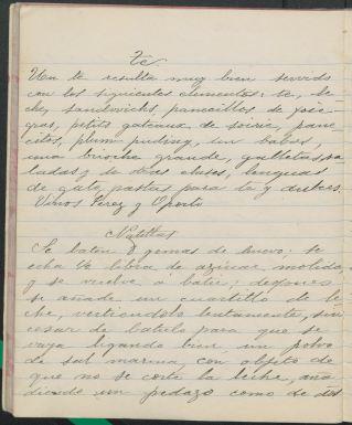 Cuaderno de Recetas de Cocina (1902) by Hortensia Volante. TX716 .M4 V65 1902. UTSA Libraries Special Collections.
