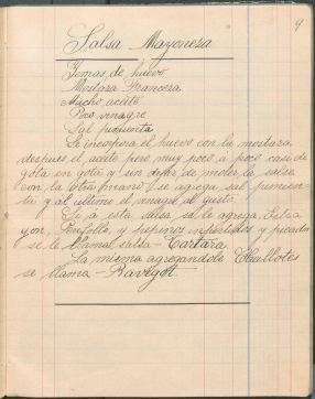 Recetas de Cocina por Mi Profesor Sr. H. Winder (1904) by Paulina Morante. TX716 .M4 M66 1904. UTSA Libraries Special Collections.