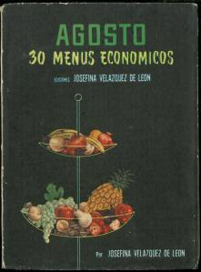 Augusto (30 Menus Economicos) by Josefina Velázquez de León. UTSA Libraries Special Collections.