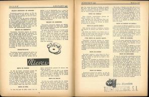 Almanaque Dulce 1937. Unión Nacional de Productores de Azúcar (Mexico). UTSA Libraries Special Collections.