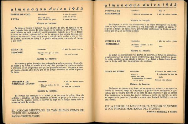 Almanaque Dulce 1953. Unión Nacional de Productores de Azúcar (Mexico). UTSA Libraries Special Collections.