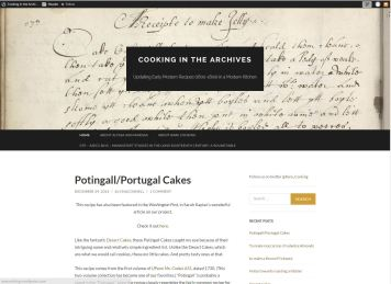 Cooking in the Archives: Updating Early Modern Recipes (1600-1800) in a Modern Kitchen.
