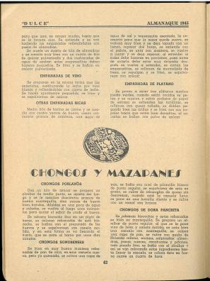 Almanaque Dulce 1945. Unión Nacional de Productores de Azúcar (Mexico). UTSA Libraries Special Collections.