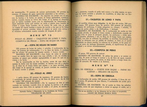 Junio (30 Menus Practicos y Economicos) by Josefina Velázquez de León. UTSA Libraries Special Collections.
